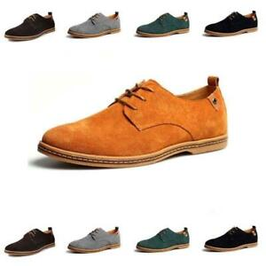 Oxfords Mens Suede Leather Dress Shoes British Casual Business Formal Plus Size
