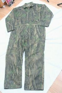 Trebark Green Beige Brown Hunting Coveralls Size XL Camouflage Suit Extra Large