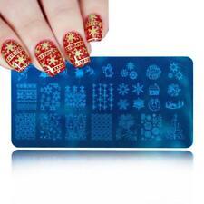 Nail Art Stamping Plates Image Plate Christmas Reindeer Snowflakes Santa XY28