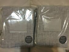 West Elm Two (2) Crossweave Curtains 48x84 NWT Stone White