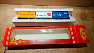 """Hornby """"00"""" R204 Freightliner Wagon with three 20' containers Boxed"""