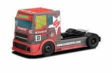 "Scalextric ""Team Scalextric"" Racing Truck Red #8 1:32nd Scale Slot Car"