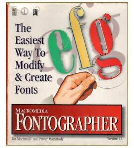 Macromedia Fontographer Version 4.1 for Mac and Power Mac (Never used)