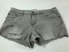 Destroyed No Boundaries Ripped Distressed Denim Jean Shorts BOHO Festival Sz 13