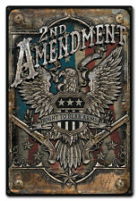 2nd Amendment Metal Sign - Hand Made in the USA with American Steel