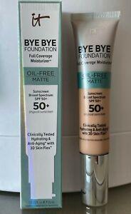It Cosmetics Bye Bye Foundation Oil-Free Matte 50+ Full Coverage Moisturizer New