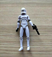 "Hasbro Star Wars The Clone Wars Clone Trooper action figure w gun 3.75"" loose"
