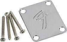 "GENUINE FENDER ""F"" NECK PLATE ORIGINAL STRAT/TELE TELECASTER STRATOCASTER ~ NEW"