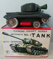 1960s YONEZAWA JAPAN DIAMOND POCKET SERIES - MECHANICAL NO.1 TANK WITH SPARKING