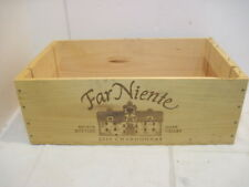 OLD WOOD-WOODEN NIENTE 2010 CHARDONNAY WINE CRATE BOX ADVERTISING
