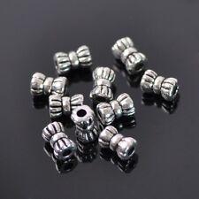 50pcs 4x5mm Iron Silver Metal DIY Craft Jewelry Making Loose Spacer Beads 66#