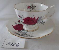 ROYAL ALBERT cup & saucer  English bone china SWEET ROMANCE red rose