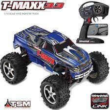 Traxxas 49077-3 1/10 Nitro T-Maxx 3.3 Monster Truck Tsm 4Wd Rtr w/ Radio Blue