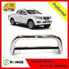 Nissan NP300 2016-17 Front Chrome High Bull Bar Nuge Bar Chrome Axle Nudge **UK