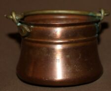 Vintage small hand made folk copper pot