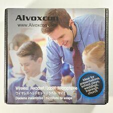 Wireless Headset Lavalier Microphone System Alvoxcon Dual Wireless Lapel Mic