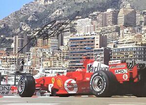 MICHAEL SCHUMACHER AUTHENTIC SIGNED  F1 A4 PHOTO AFTAL#198