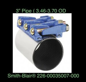 """3"""" IPS X 7.5"""" Smith Blair Full Circle Pipe Repair Coupling Clamp 22600035007000"""