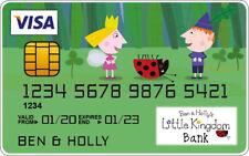 Ben and Holly Novedad Plástico Tarjeta De Crédito