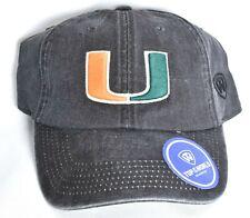 promo code 7c204 91614 MIAMI HURRICANES Top Of The World Railroad Hat Cap Adjustable Gray NCAA   NEW