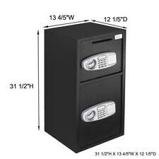ZENY Lock & Safe Double Door Digital Depository Safe Cash Drop Safe Security