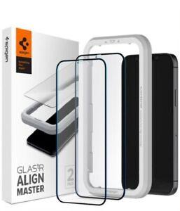 2 x Spigen Glass FC AlignMaster für iPhone 12 Pro Max Schwarz
