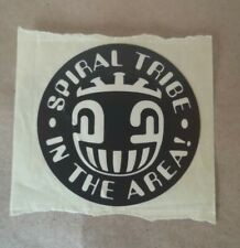 Spiral Tribe Flyer Sticker Rave Illegal 1992 Original fre party rare