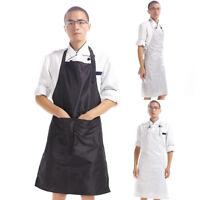 EG_ Adult Waterproof Sleeveless PVC Craft Art Painting Cooking Apron Smock Hot S