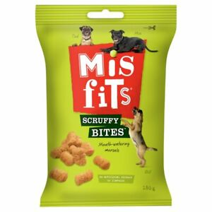 Misfits Mouth Watering Scruffy Bites Dog Pet Training Treats 180g GREAT VALUE!