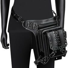Unisex PU Leather Punk Steampunk Crossbody Leg Waist Rock Shoulder Messenger Bag