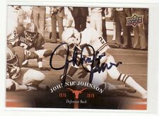 JOHNNIE JOHNSON TEXAS UNIVERSITY  AUTOGRAPHED CARD THRU THE MAIL