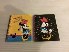 Disney Minnie Mouse 100 Pages 1 Subject Notebooks Set Of 2