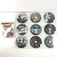 Lot 10 Playstation 3 PS3 Games Ninja Gaiden 2 Back Breaker Samurai 3 Rayman Disc