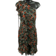 NWT Veronica Beard Multi-Color Floral One Sleeve Silk Dress Women's Size 12