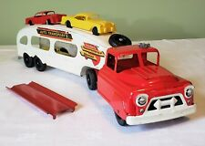 Marx Toys Chevrolet Cab AUTO TRANSPORT CAR CARRIER TT TRUCK W/CARS 50's NMINT