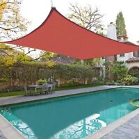 16'x16' Square Sun Shade Sail Block UV Outdoor Red Canopy Patio Pool Top Cover