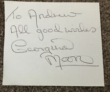 Actress Georgina Moon (UFO) Signed Card
