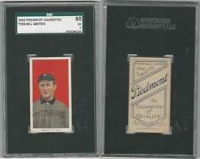 T206 Atc Baseball, 1909, Bill Abstein, Pittsburg, Piedmont, SGC 60 Ex