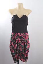 Size S 10 Ladies Black Sun Dress Strapless Casual Beach Boho Gypsy Resort Design