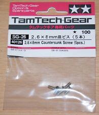 Tamiya 40126 2.6x8mm Countersunk Screw (5 Pcs.) (Tamtech-Gear/GB01/GB02/GT01)