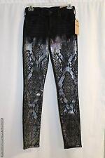 NWT True Religion Halle Super Skinny Jeans Black Venom Size 23 MSRP $249