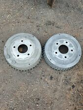 GM Chevy Buick Pontiac Finned Aluminum Brake Drums Pair (2)