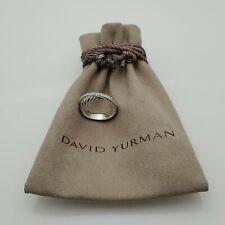 David Yurman 5mm Crossover Ring with Pave Diamonds Size 7