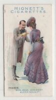 Native French  Man And Woman Greeting Clothing Fashions 100+ Y/O Trade Ad Card