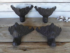 Set of 4 Cast Iron Furniture Sofa Ottoman Chest Feet Legs ~ Vintage Inspired