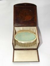 VINTAGE SOLID SILVER GILT & SHAGREEN SMALL SIZE HAIR BRUSH, CASED B'HAM 1927