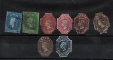 Ceylon 1857-1859 SG2,3 plus cut outs of early stamps