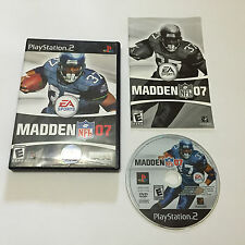 Madden NFL 07 (Sony PlayStation 2, 2006) Complete Tested