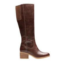 Clarks Patternless Regular Boots for Women