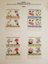 O) 1985 ST. VINCENT GRENADINES  -  BEQUIA, IMPERFORATE - FLOWERS - PRIMULA - PUL
